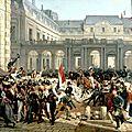 Vernet horace-Louis-Philippe, Duc d'Orléans, nommé lieutenant général du Royaume, quitte à cheval le Palais Royal