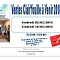 Clair'fouille - ventes de février 2018