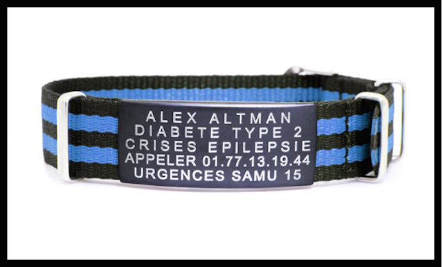 id vie bracelet medical stripe 1