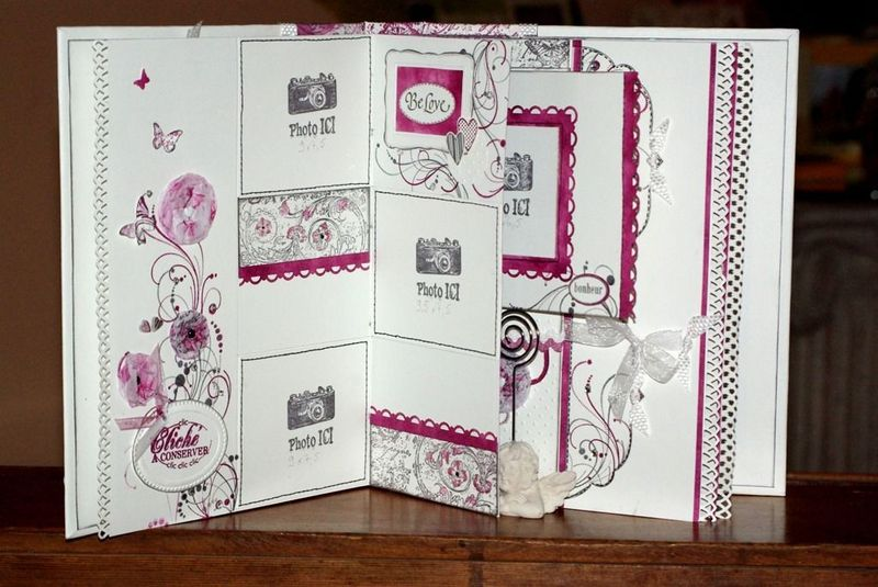 Fantaisy Scrap  carterie, mini album photos, objets home déco, page de