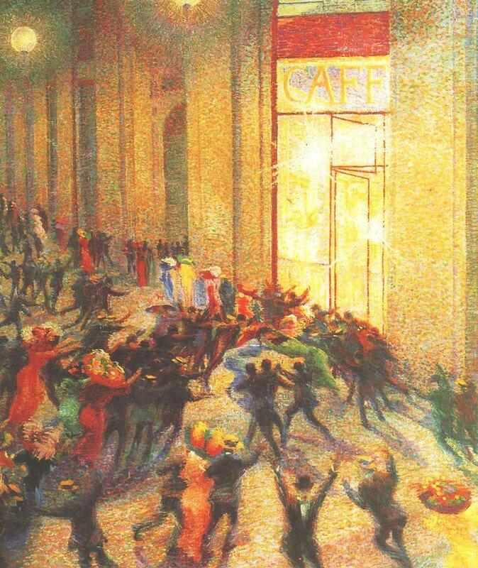 11 Boccioni, Rixe dans la galerie