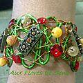Bracelet de Mariage vert