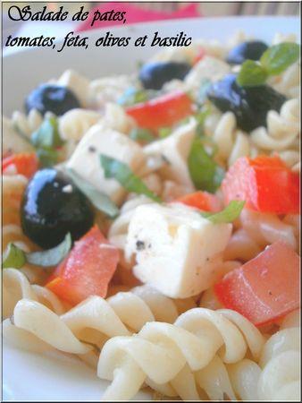 pin salade de pates tomates olives feta et basilic ola cake on