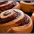 Brioches (sans oeuf) roulées au nutella