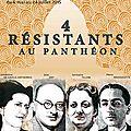 4 résistants au panthéon