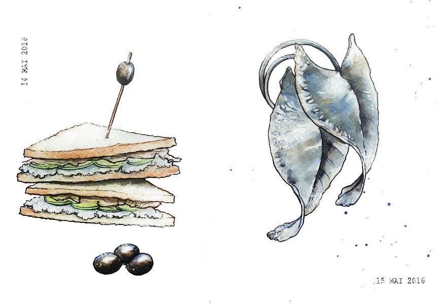 14 - A sandwich / 15 - Jewelry