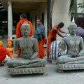Atelier de fabrication de bouddhas, Savannakhet