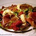 Salade au jambon cru et langoustines