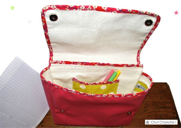 Cartable rose Chut Charlotte (5)