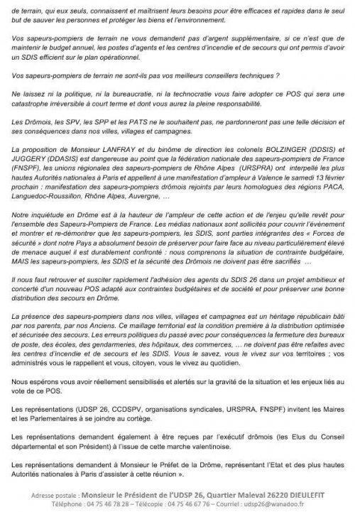 CP de l'Union Departementale des Sapeurs Pompiers de la Drome page 4