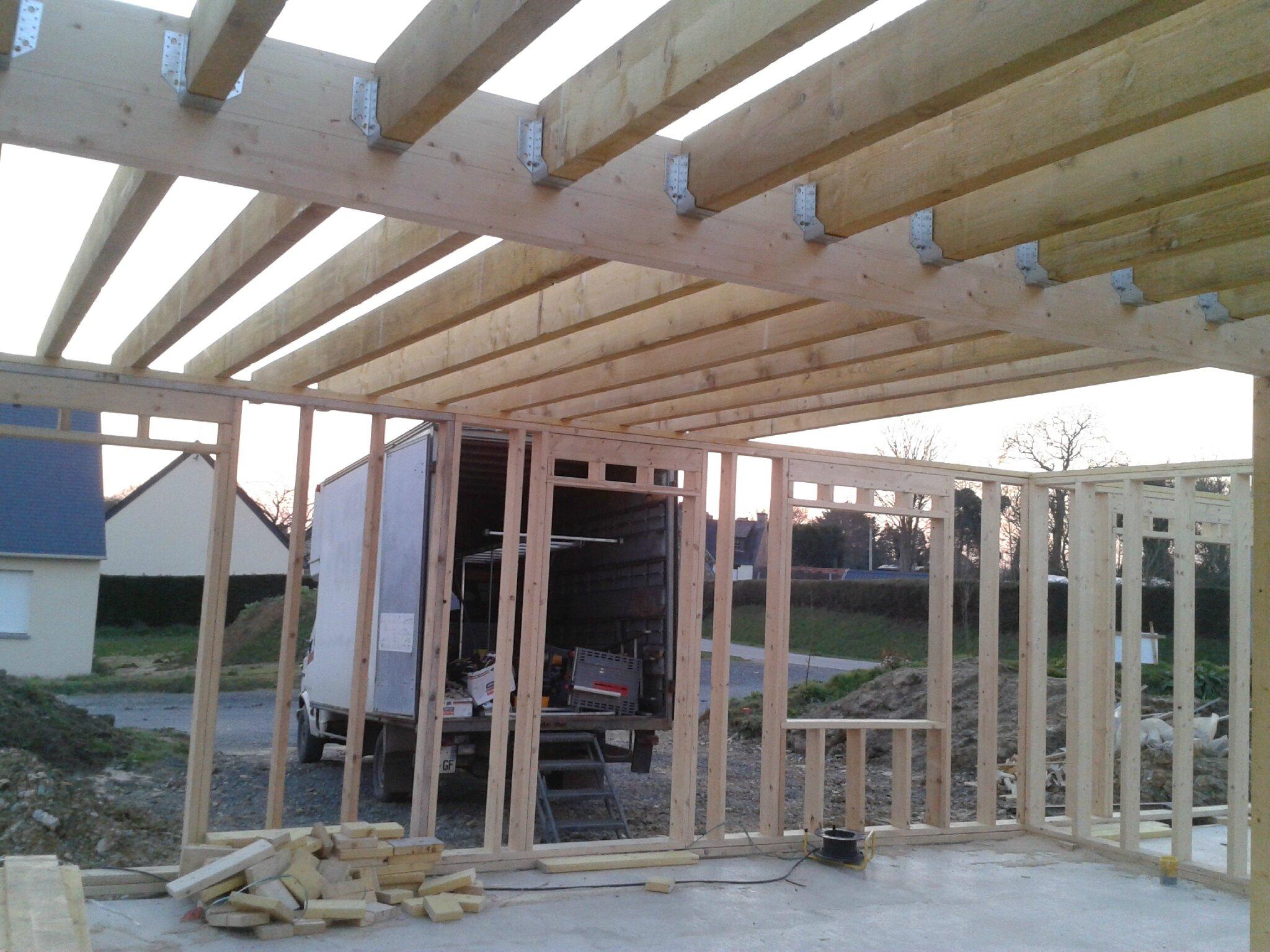 Empoutrellement jeudi 21 f vrier 2013 autoconstruction for Autoconstruction maison ossature bois
