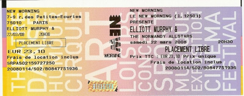 2008 03 Elliott Murphy New Morning Billet