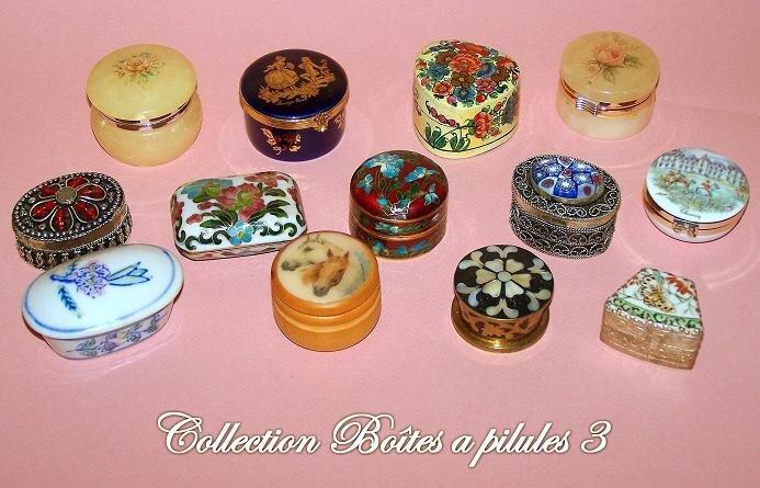 Collection de Boîtes a pilules 3