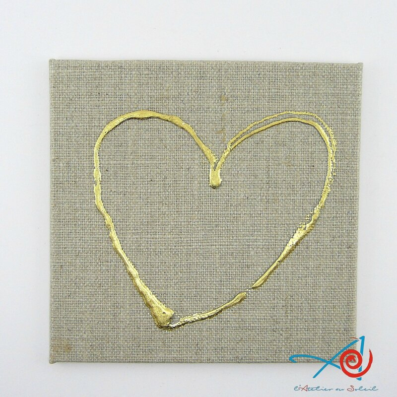 Coeur 1 sur carton toilé lin 1 (Copier)