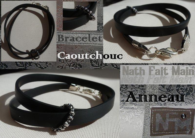 Bracelet Caoutchouc anneau