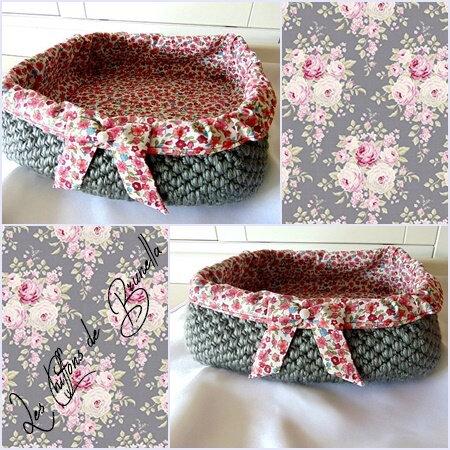 Crochet Carré Gris 5
