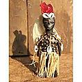 Statuette kada le missionnaire du grand medium voyant marabout azema