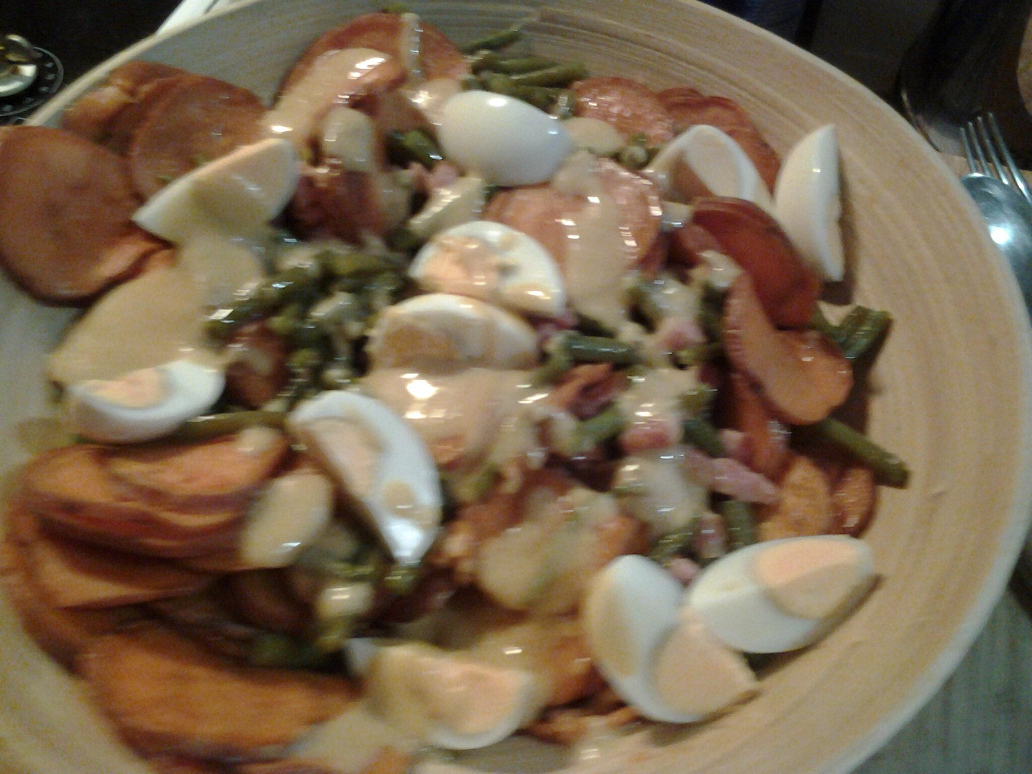 Salade liégeoise d'automne