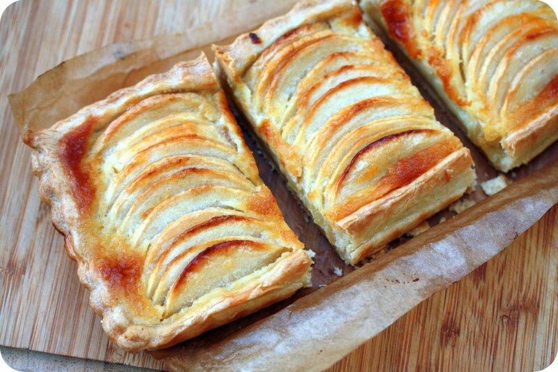 tarte aux pommes normande part blog chez requia cuisine et confidences