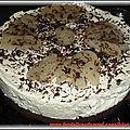 Moelleux chocolat et mousse poires