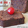 Cake au chocolat noir (sophie dudemaine)...