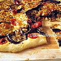 Foccacia aubergine/ tomate cerise /mozzarella