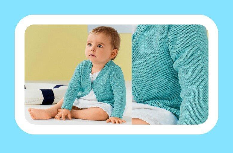 gilet col en v pour bébé
