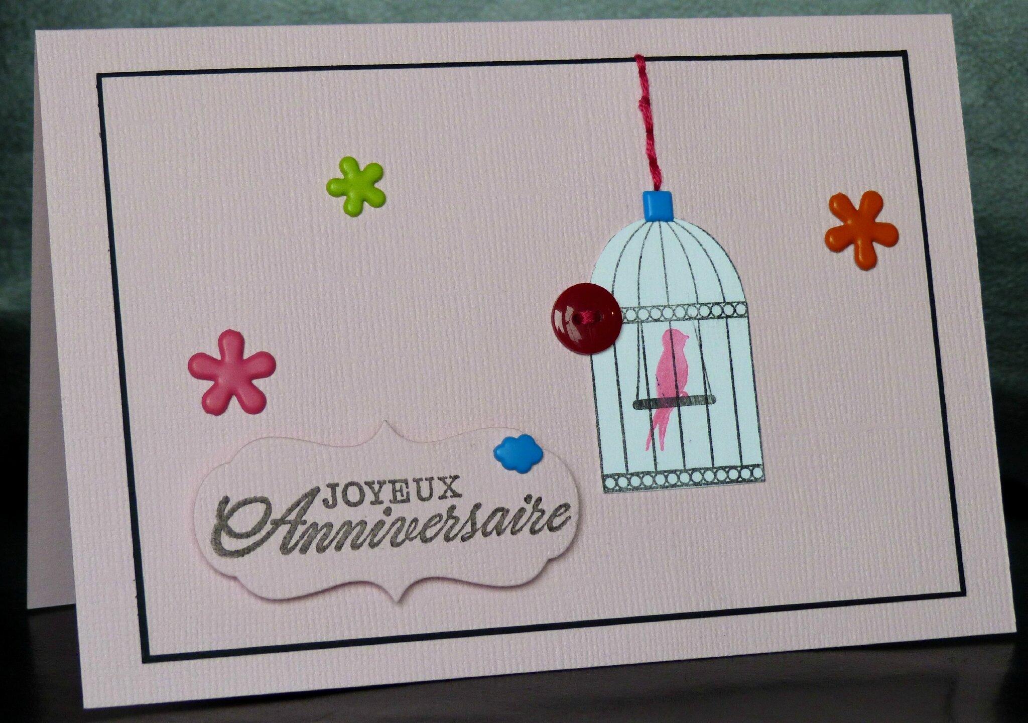 19. rose et multicolore - cage à zozio