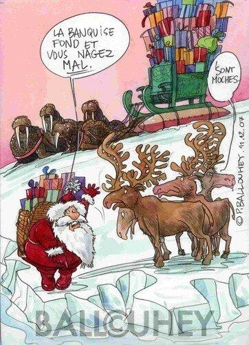 Décembre 2007 : Le départ du Père Noël