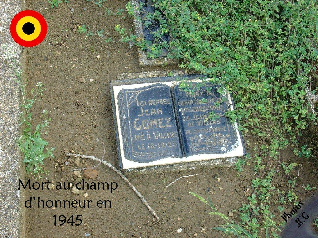 Jean Gomez 1925-1945 au Champs Honneur