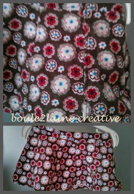 jupe binspired fleurs