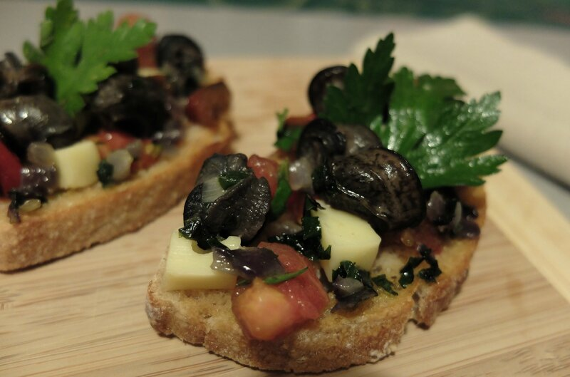 bruschetta escargots