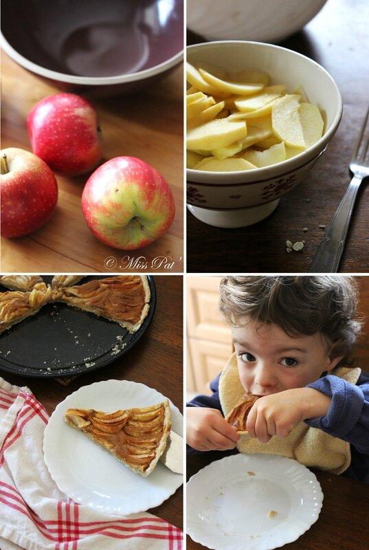 4 vues tarte aux pommes miss pat'