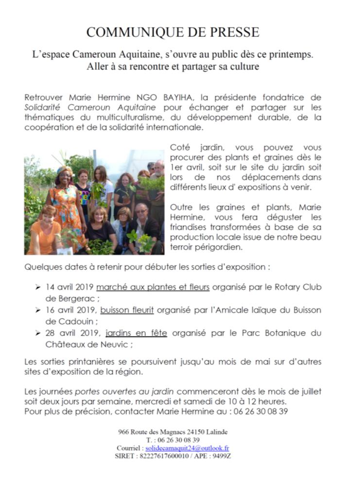 Coopération Cameroun-Aquitaine autour des fleurs ...