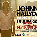 Johnny, la tournée 2013 paris bercy.