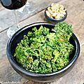 Chips de kale au sésame et ponzu
