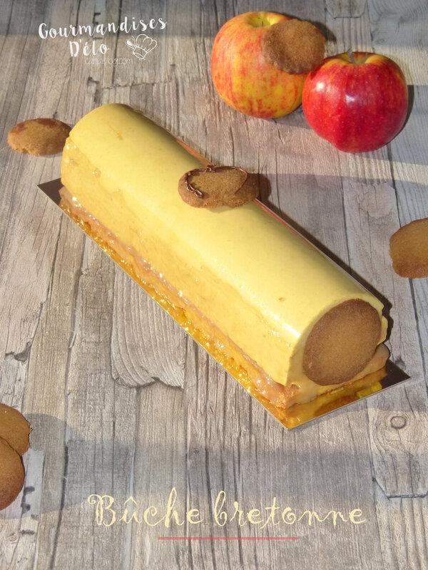 Bûche bretonne sablé breton pomme caramel au beurre salé (7)