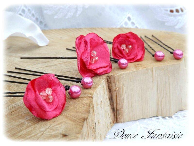 Fleurs Perles Fuchsia
