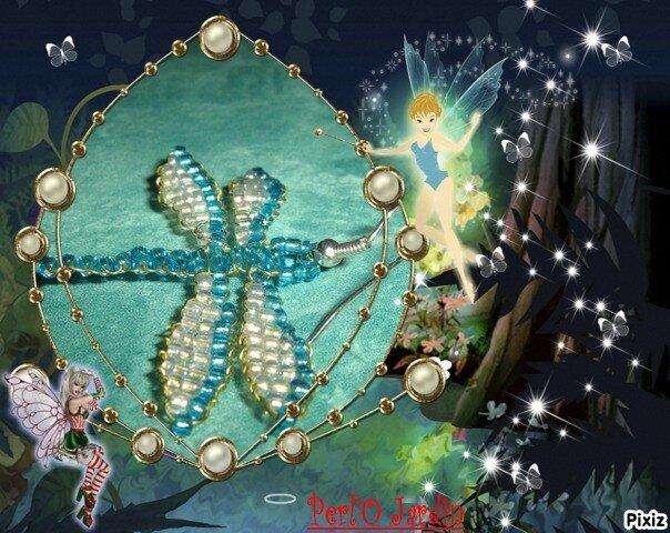Libellule bleue Boucle oreille blog