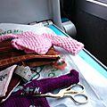 Tricoti-tricoton dans le train !