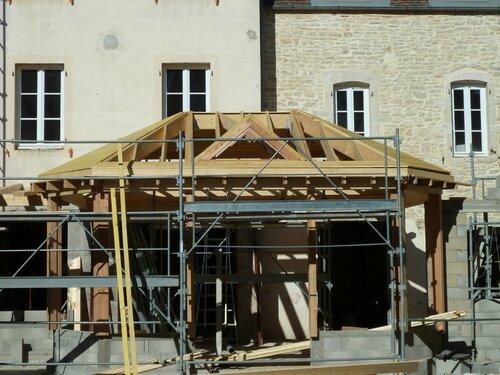 extension, veranda bois