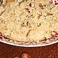 Risotto aux cepes, parmesan et noisettes
