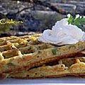 Kkvkvk # 43: gaufres de pommes de terre au fromage de chèvre & chantilly de chèvre frais