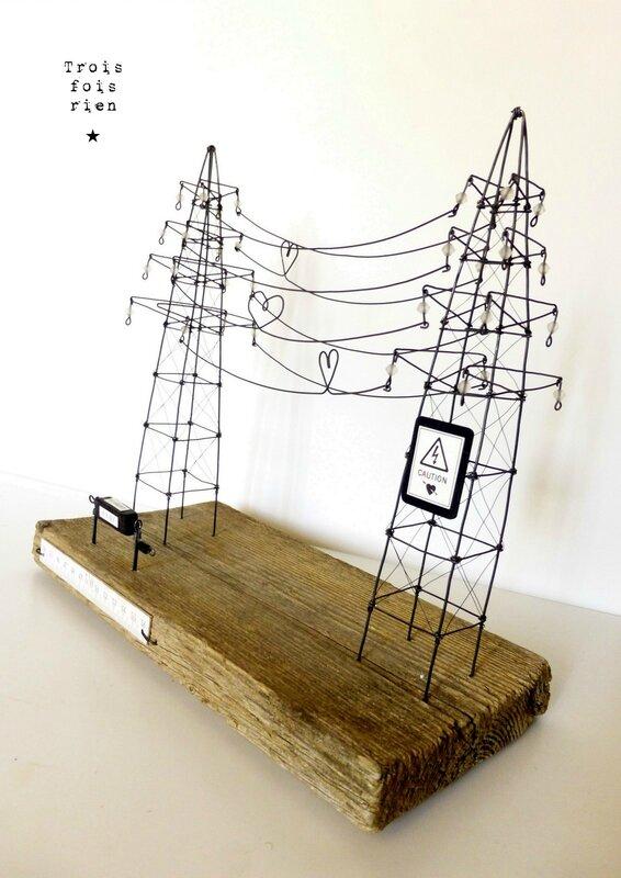hight voltage of love, trois fois rien, fil de fer, wire, scénette, pylône (1)