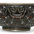 A black lacquer 'tixi' bowl, ming dynasty, 16th century