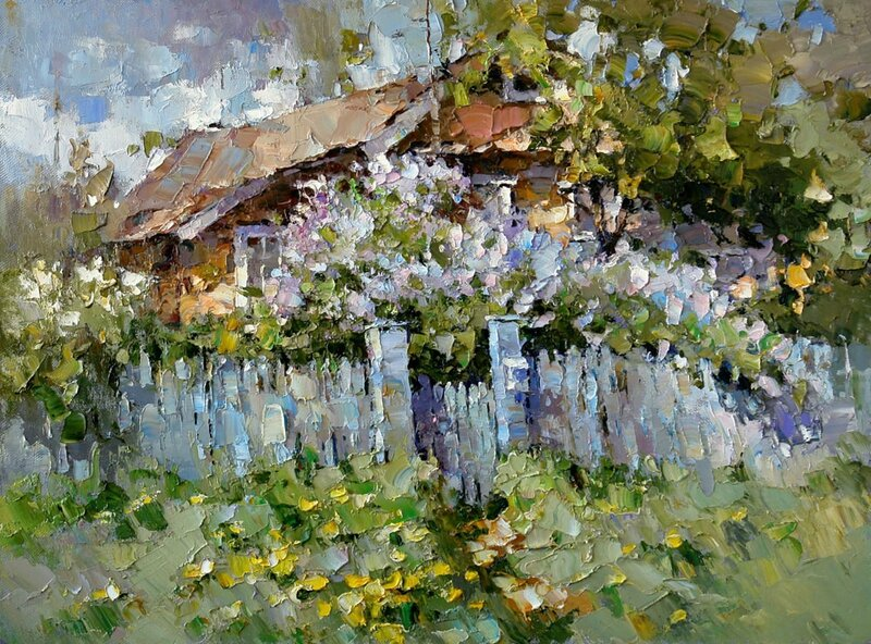 Alexis Zaitsev Little house in the lilac