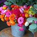 Bouquet londonien de renoncules