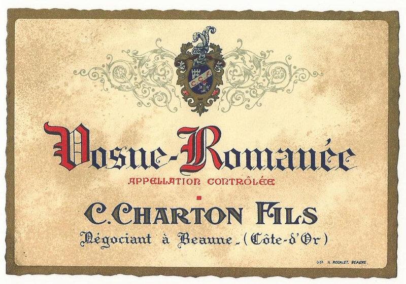 vosne romanée charton