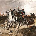 beauquesne Un instant critique, scène de la guerre franco prussienne 1890cene-from-the-franco-prussian-war