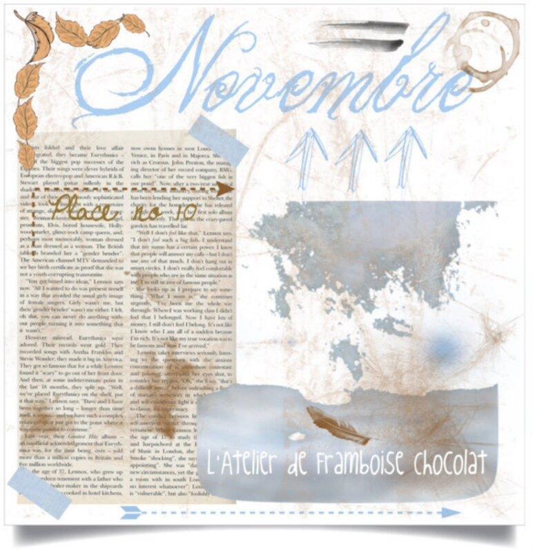Novembre L'Atelier de Framboise Chocolat